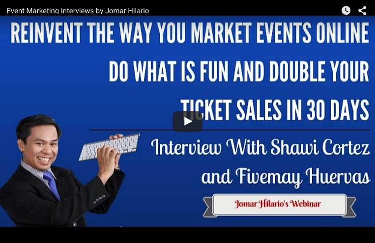 event marketing promotion interview jomar hilario shawi cortez